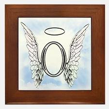 Letter O Monogram Framed Tile