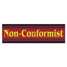 Non-Conformist Bumper Bumper Sticker