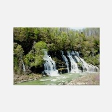 Twin Falls  Rectangle Magnet
