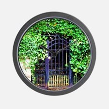 Ivy and Iron Gate Wall Clock