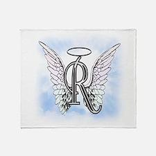 Letter R Monogram Throw Blanket