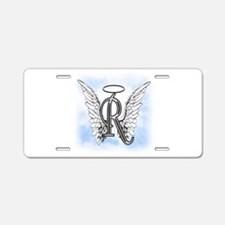 Letter R Monogram Aluminum License Plate