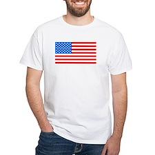 American Flag Light Blue 4th of July Pie T-Shirt