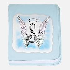 Letter S Monogram baby blanket