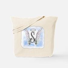 Letter S Monogram Tote Bag