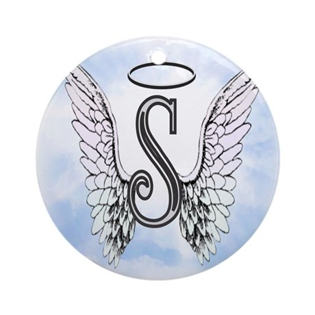 Letter S Monogram Ornament Round By AmelianAngels