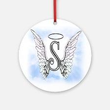 Letter S Monogram Ornament (Round)