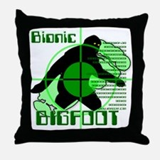 Bionic Bigfoot Throw Pillow
