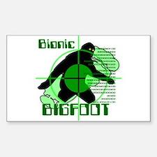 Bionic Bigfoot Rectangle Decal