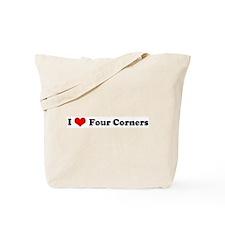 I Love Four Corners Tote Bag
