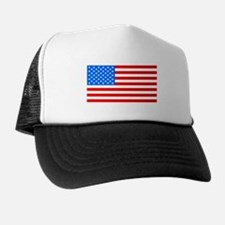 American Flag Light Blue 4th of July Pie Trucker Hat