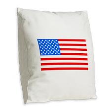 American Flag Light Blue 4th of July Pie Burlap Th