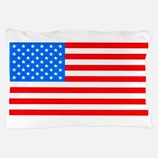 American Flag Light Blue 4th of July Pie Pillow Ca