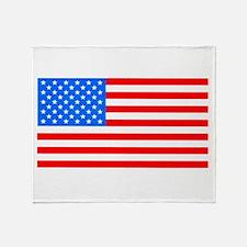 American Flag Light Blue 4th of July Pie Throw Bla