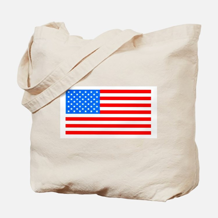 American Flag Light Blue 4th of July Pie Tote Bag