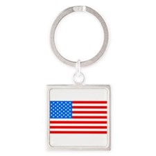 American Flag Light Blue 4th of July Pie Keychains