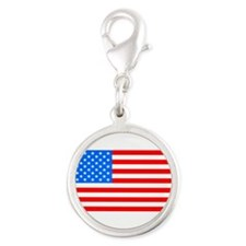 American Flag Light Blue 4th of July Pie Charms