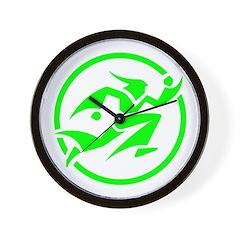 'Running Wizard' Wall Clock (green)