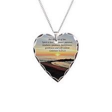 GALATIANS 5 Necklace Heart Charm
