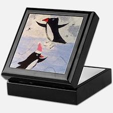 Skating penguins Keepsake Box