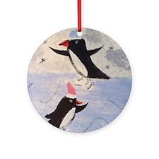 Skating penguins Ornament (Round)