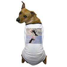 Skating penguins Dog T-Shirt