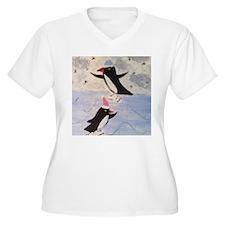 Skating penguins Plus Size T-Shirt