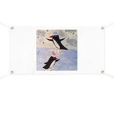 Skating penguins Banner