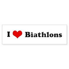 I Love Biathlons Bumper Bumper Sticker
