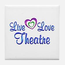 Live Love Theatre Tile Coaster