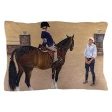 Little Boy Hunter Jumper Horse Show Pillow Case
