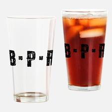 B-P-R Black font Drinking Glass