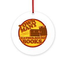 Leather Bound Books Ornament (Round)