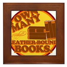 Leather Bound Books Framed Tile