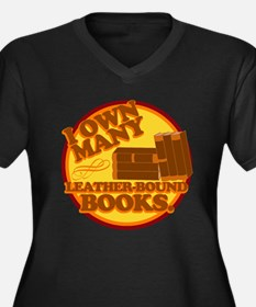 Leather Bound Books Plus Size T-Shirt