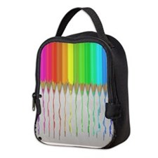 Melting Rainbow Pencils Neoprene Lunch Bag