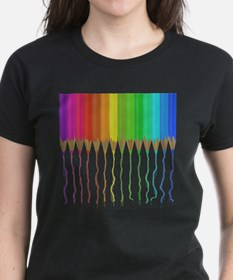 Melting Rainbow Pencils Tee
