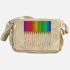 Melting Rainbow Pencils Messenger Bag