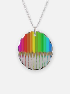 Melting Rainbow Pencils Necklace