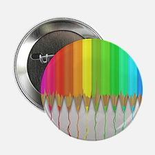 "Melting Rainbow Pencils 2.25"" Button (10 pack)"