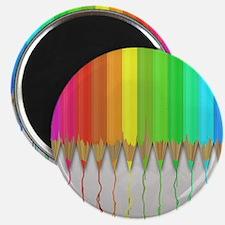 "Melting Rainbow Pencils 2.25"" Magnet (10 pack)"