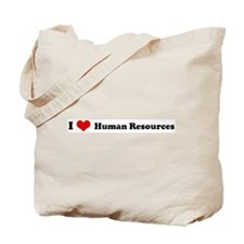 I Love Human Resources Tote Bag