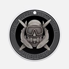 SF Spec Ops Diver Ornament (Round)