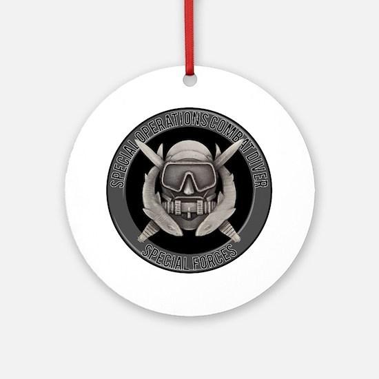 SF Spec Ops Diver Ornament (Round)