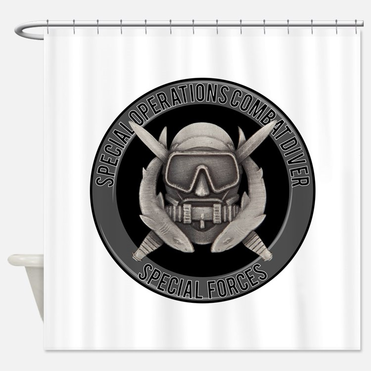 SF Spec Ops Diver Shower Curtain