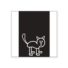 "Cute Stick family car Square Sticker 3"" x 3"""