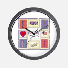 Clubhouse Quilt Wall Clock