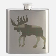 Plaid Moose Flask