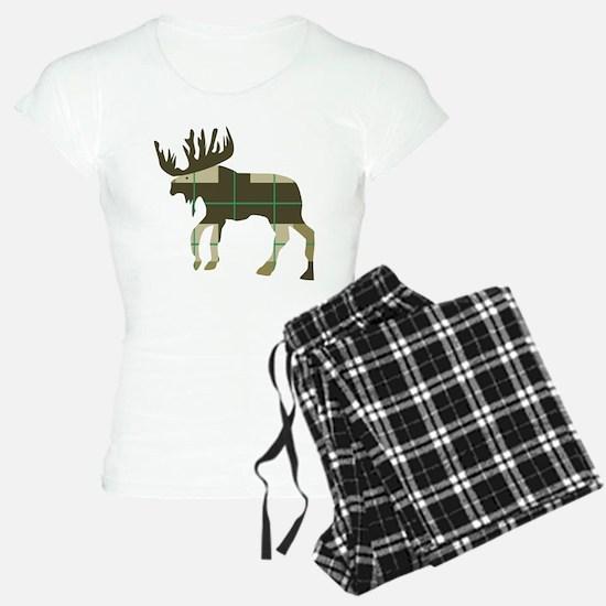 Plaid Moose Pajamas
