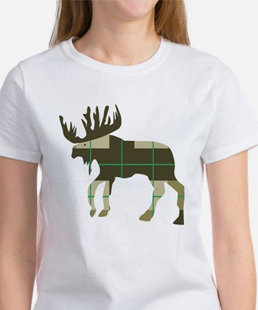 Plaid Moose T-Shirt